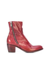 Bottines en cuir rouges Rocco P.