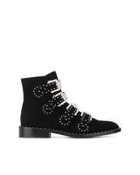 Bottines en daim à clous noires Givenchy