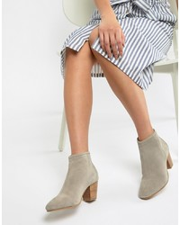 Bottines en daim beiges ASOS DESIGN