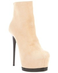 Bottines en daim beiges Gianmarco Lorenzi
