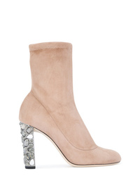 Bottines en daim beiges Jimmy Choo