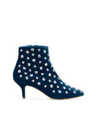 Bottines en daim bleu canard Polly Plume