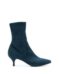 Bottines en daim bleu canard Strategia