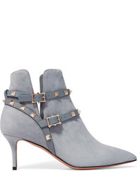 Bottines en daim bleu clair Valentino