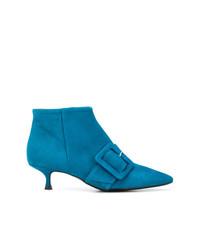 Bottines en daim bleues Anna F.