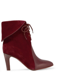 Bottines en daim bordeaux Chloé