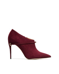 Bottines en daim bordeaux Jennifer Chamandi