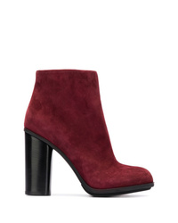 Bottines en daim bordeaux Loriblu