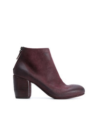 Bottines en daim bordeaux Marsèll