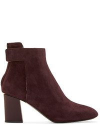 Bottines en daim bordeaux Proenza Schouler