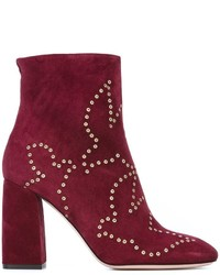 Bottines en daim bordeaux RED Valentino