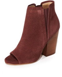 Bottines en daim bordeaux Splendid