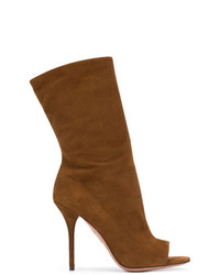 Bottines en daim brunes Aquazzura