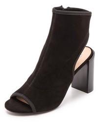 Bottines en daim découpées noires Diane von Furstenberg