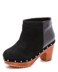 Bottines en daim épaisses noires Madison Harding
