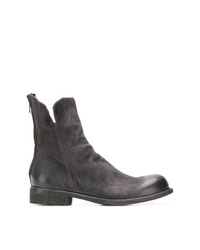 Bottines en daim gris foncé Officine Creative
