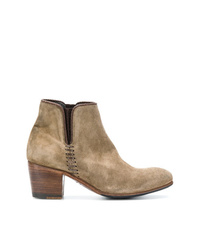 Bottines en daim marron clair Alberto Fasciani