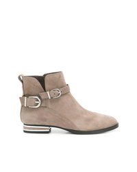 Bottines en daim marron clair DKNY
