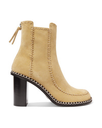 Bottines en daim marron clair JW Anderson
