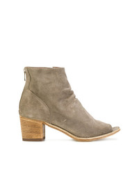 Bottines en daim marron clair Officine Creative