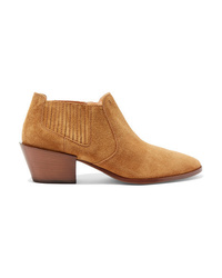 Bottines en daim marron clair Tod's