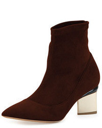 Bottines en daim marron foncé
