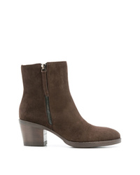 Bottines en daim marron foncé P.A.R.O.S.H.