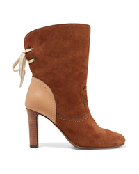 Bottines en daim marron See by Chloe