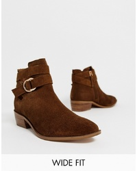 Bottines en daim marron Simply Be Extra Wide Fit
