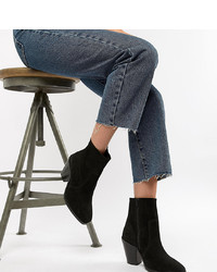 Bottines en daim noires ASOS DESIGN