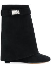 Bottines en daim noires Givenchy