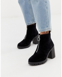 Bottines en daim noires Office