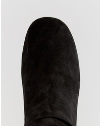Bottines en daim noires Asos