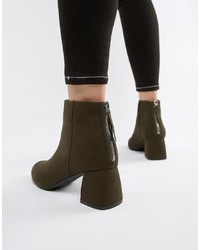 Bottines en daim olive Pieces