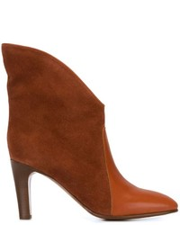 Bottines en daim orange Chloé