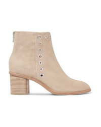 Bottines en daim ornées beiges Rag & Bone