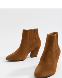 Bottines en daim tabac ASOS DESIGN