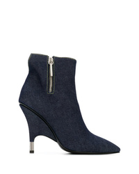 Bottines en denim bleu marine Giuseppe Zanotti Design