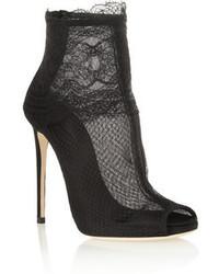Bottines en dentelle noires Dolce & Gabbana