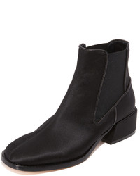 Bottines en satin noires