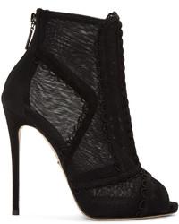 Bottines en tulle noires Dolce & Gabbana