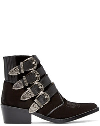Bottines en velours noires
