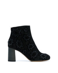 Bottines en velours noires Chloé