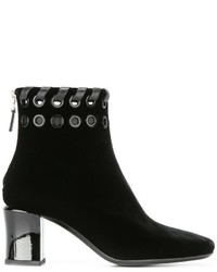 Bottines en velours noires Fendi