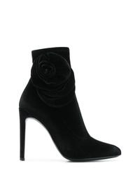 Bottines en velours noires Giuseppe Zanotti Design