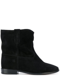 Bottines en velours noires Isabel Marant