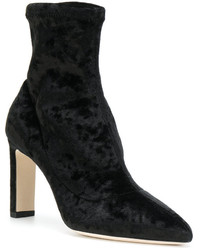 Bottines en velours noires Jimmy Choo