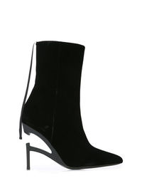 Bottines en velours noires Unravel Project