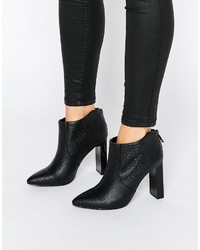 Bottines imprimées noires Missguided
