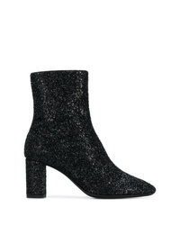 Bottines pailletées noires Saint Laurent
